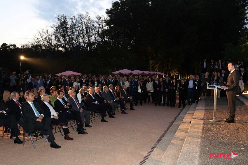 Os discursos foram feitos à frente da Casa Serralves