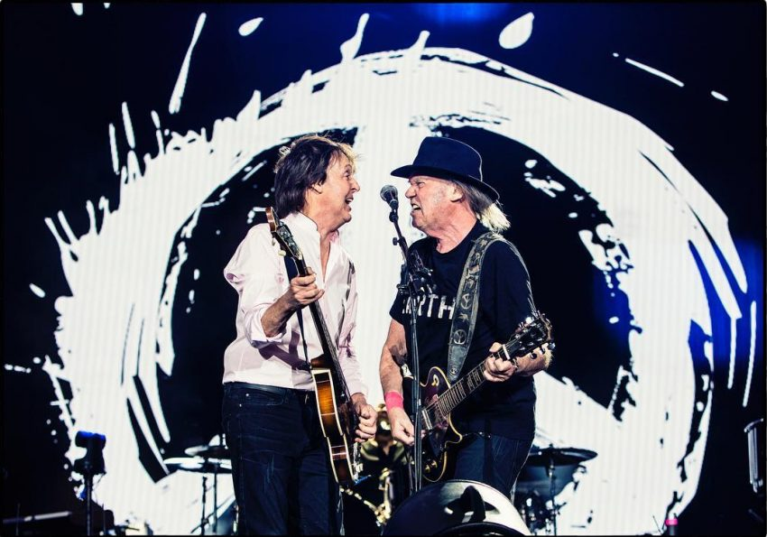 Paul McCartney e Neil Young
