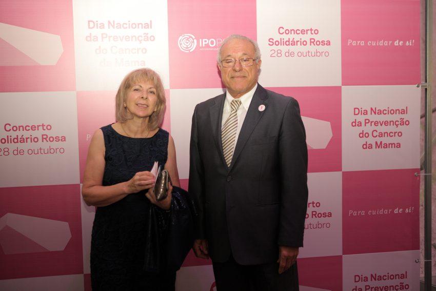 Manuel António Silva, presidente do IPO de Coimbra, com a mulher