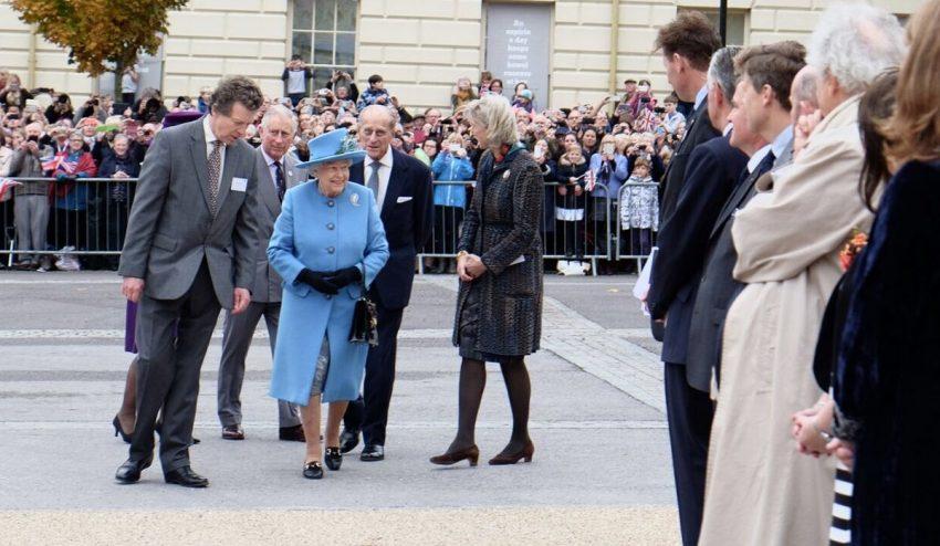 A família real conheceu várias personalidades da cidade