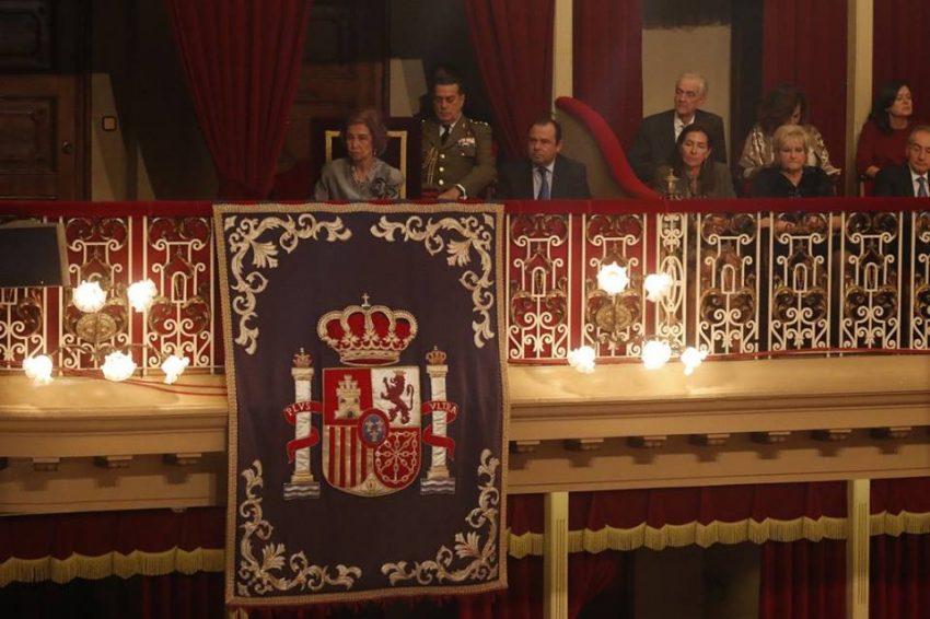 A rainha Sofia assistiu à cerimónia