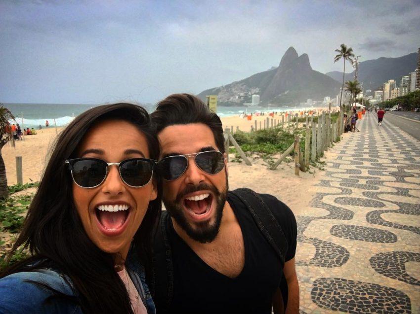 Com o ator Pedro Carvalho