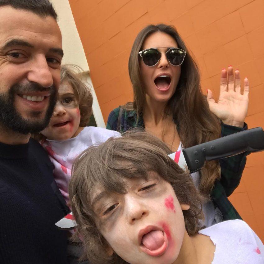 Simão e Rodrigo, filhos de Simão Sabrosa e Vanessa Rebelo