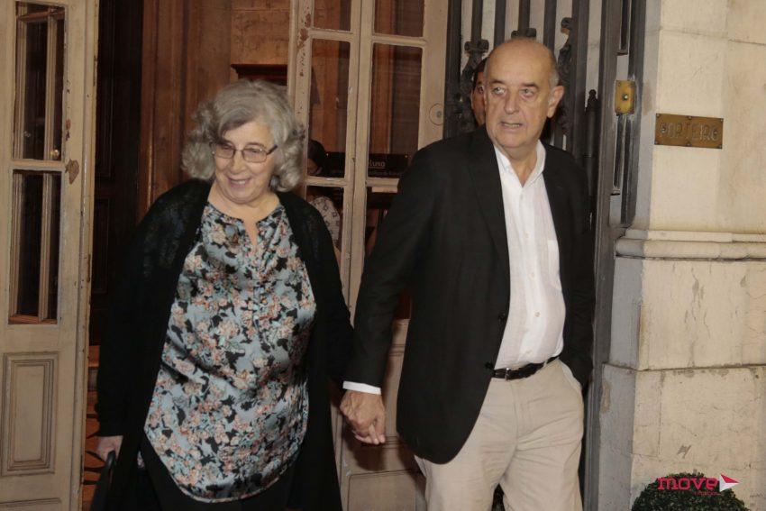 Daniel Sampaio com a mulher