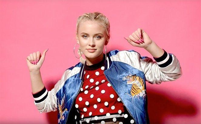 Zara Larsson, 18 anos, cantora