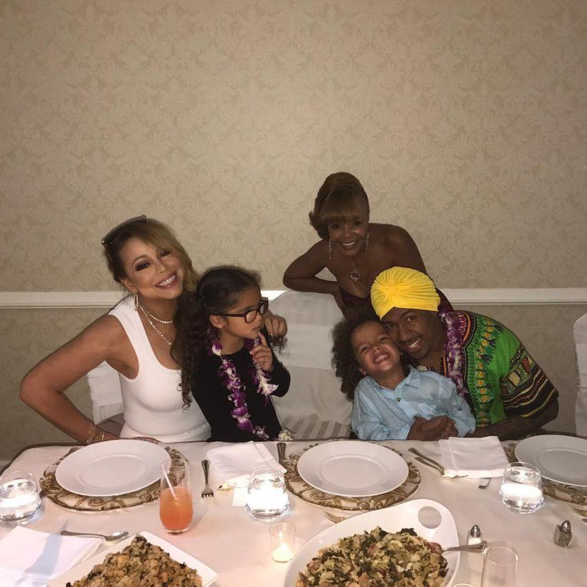Mariah Carey com Nick Cannon e os filhos