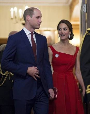 The Duke and Duchess of Cambridge arrive for a ceremony in Victoria, British Columbia, Monday, Sept 26, 2016. (Jonathan Hayward/The Canadian Press via AP)