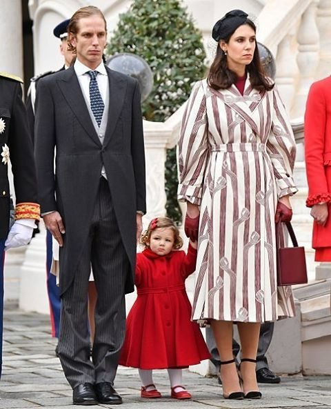 Andrea Casiraghi e Tatiana Santo Domingo com a filha India