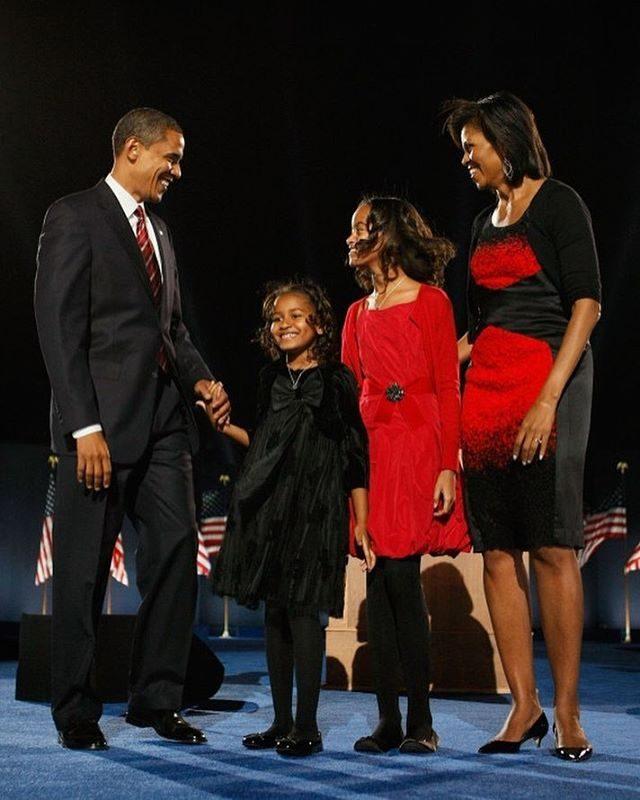 No dia da vitória de Obama, em 2008