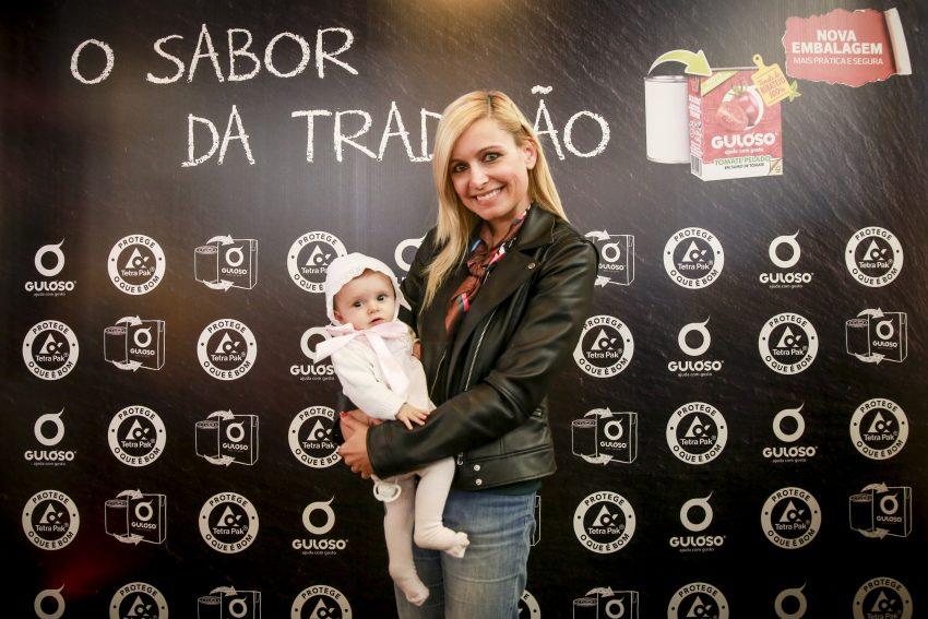Bárbara Feio com a filha