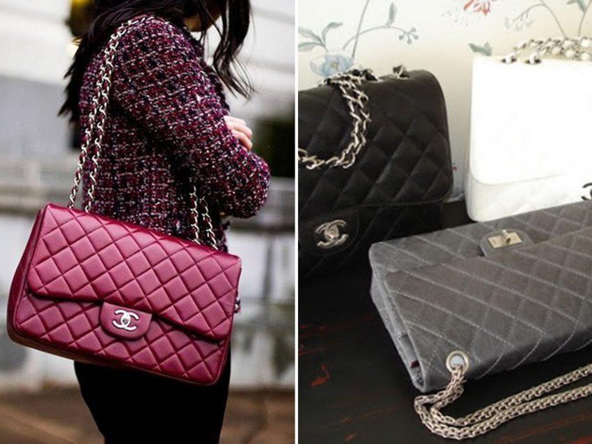 """Classic Flap Bag, Chanel: É """"O"""" clássico dos clássicos. À venda em várias cores e modelos, fica bem em qualquer ocasião"""