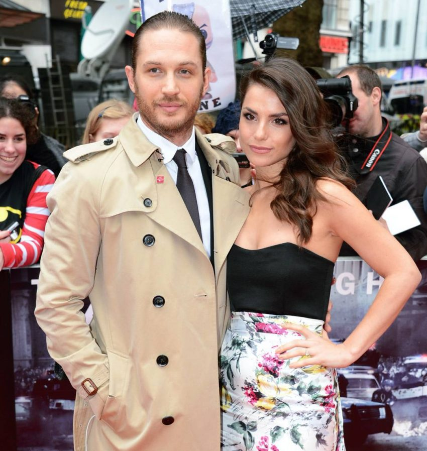 A atriz com o marido, o também ator Tom Hardy