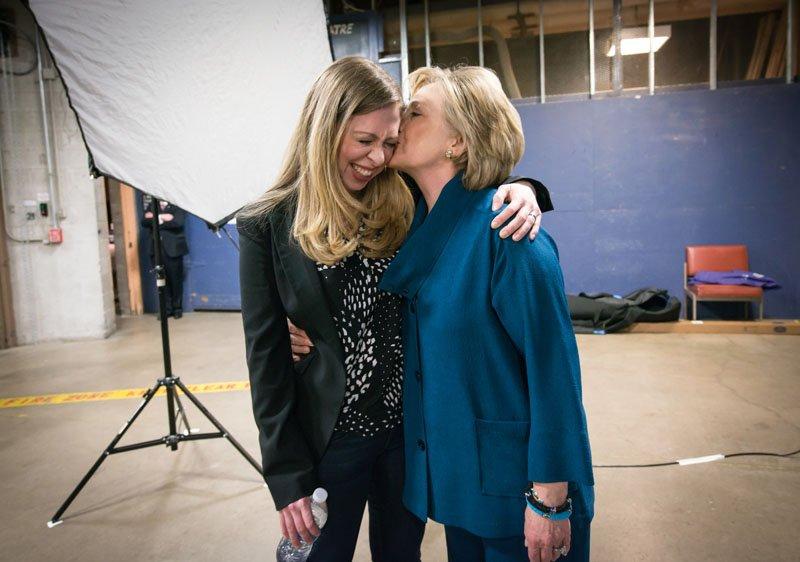 Chelsea e Hillary Clinton