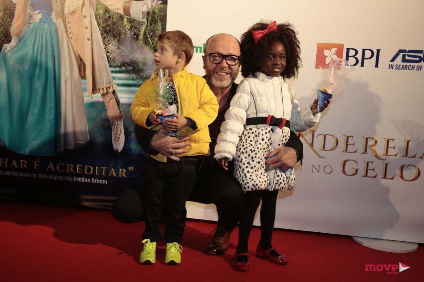 Eduardo Beauté com os filhos, Bernardo e Lurdes