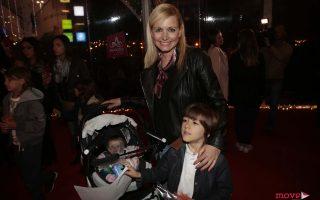 Bárbara Feio com o filho, Dinis