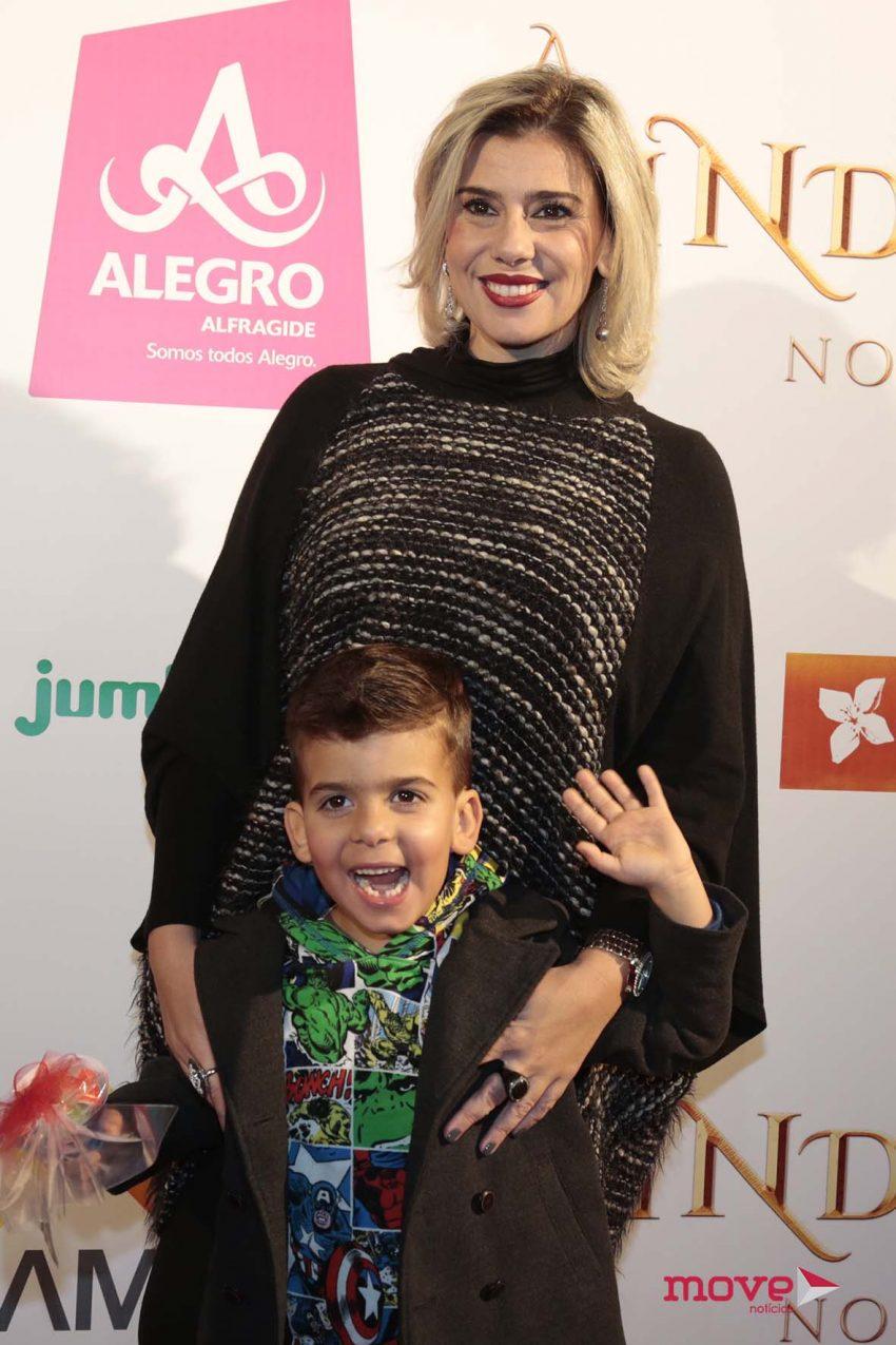 Mónica Sintra com o filho, Duarte