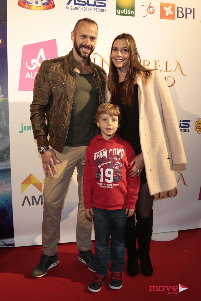 Cláudia Borges com o marido, Samuel Fortuna, e o filho, Rodrigo
