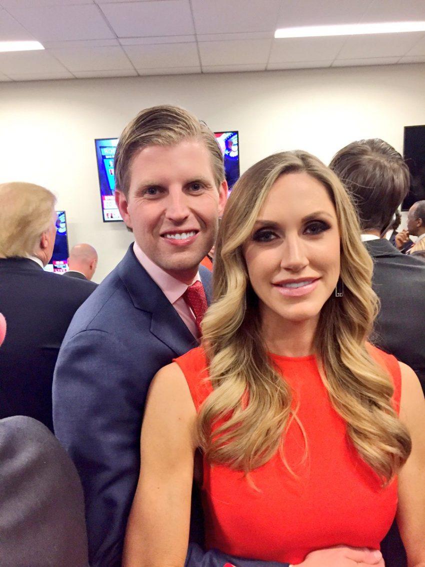 Eric Trump e a mulher Lara