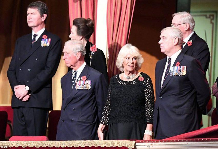 O príncipe André também esteve na cerimónia