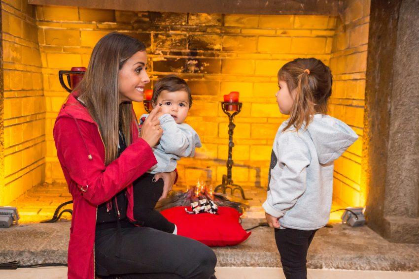 Carolina Patrocínio com Diana e Frederica