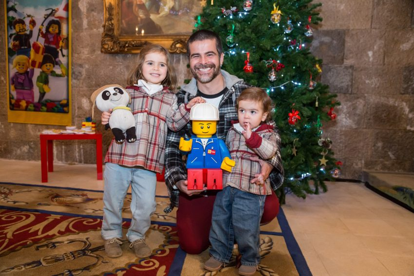 Miguel Costa com os filhos