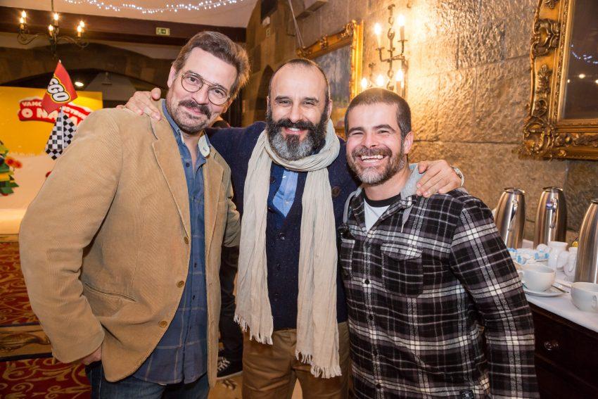 Pepê Rapazote, Rui Unas e Miguel Costa