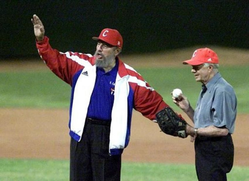 Fidel Castro no campo do beisebol