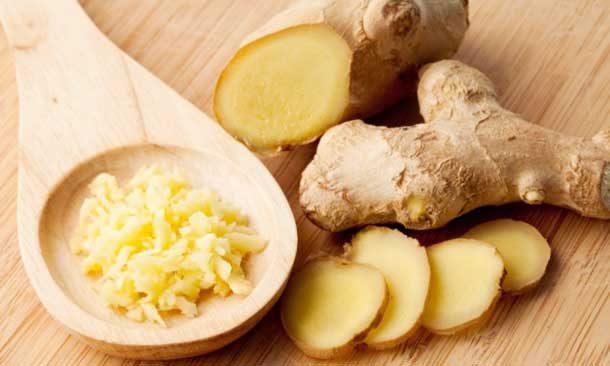 Gengibre: rico em gengirol, um potente antioxidante, atua no sistema imonológico além de ser um ótmo espeturante natural