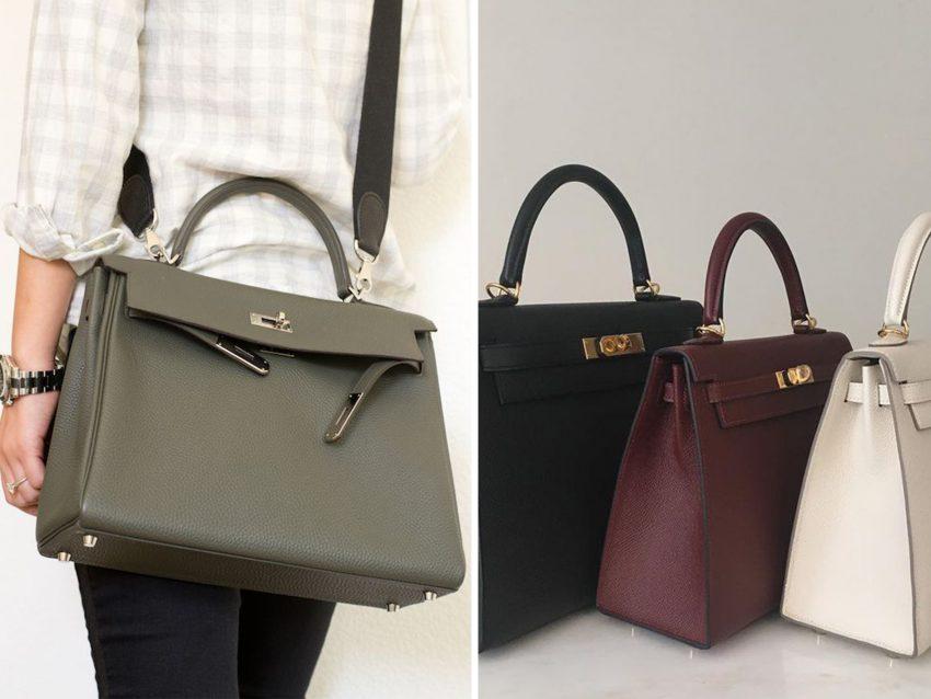 Kelly Bag, Hermès : Em várias cores e tamanhos, esta é uma mala que faz as delícias das mulheres pela sua versatilidade.
