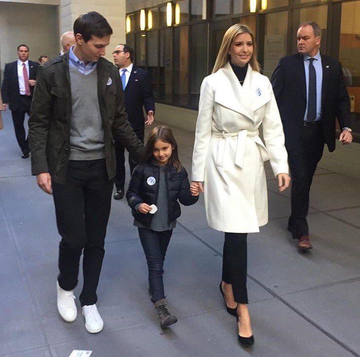 Ivanka Trump com o marido Jared Kushner