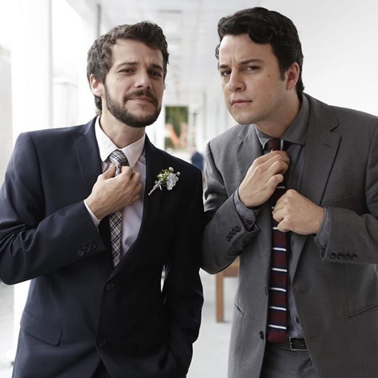 Jayme Matarazzo e o colega de elenco Johnnas Oliva