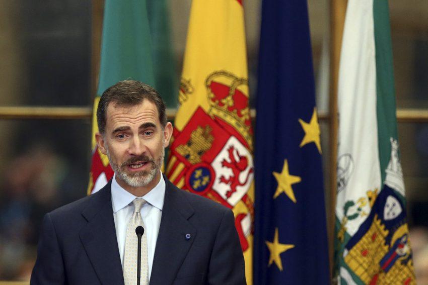 Felipe VI discursou pela primeira vez nesta visita