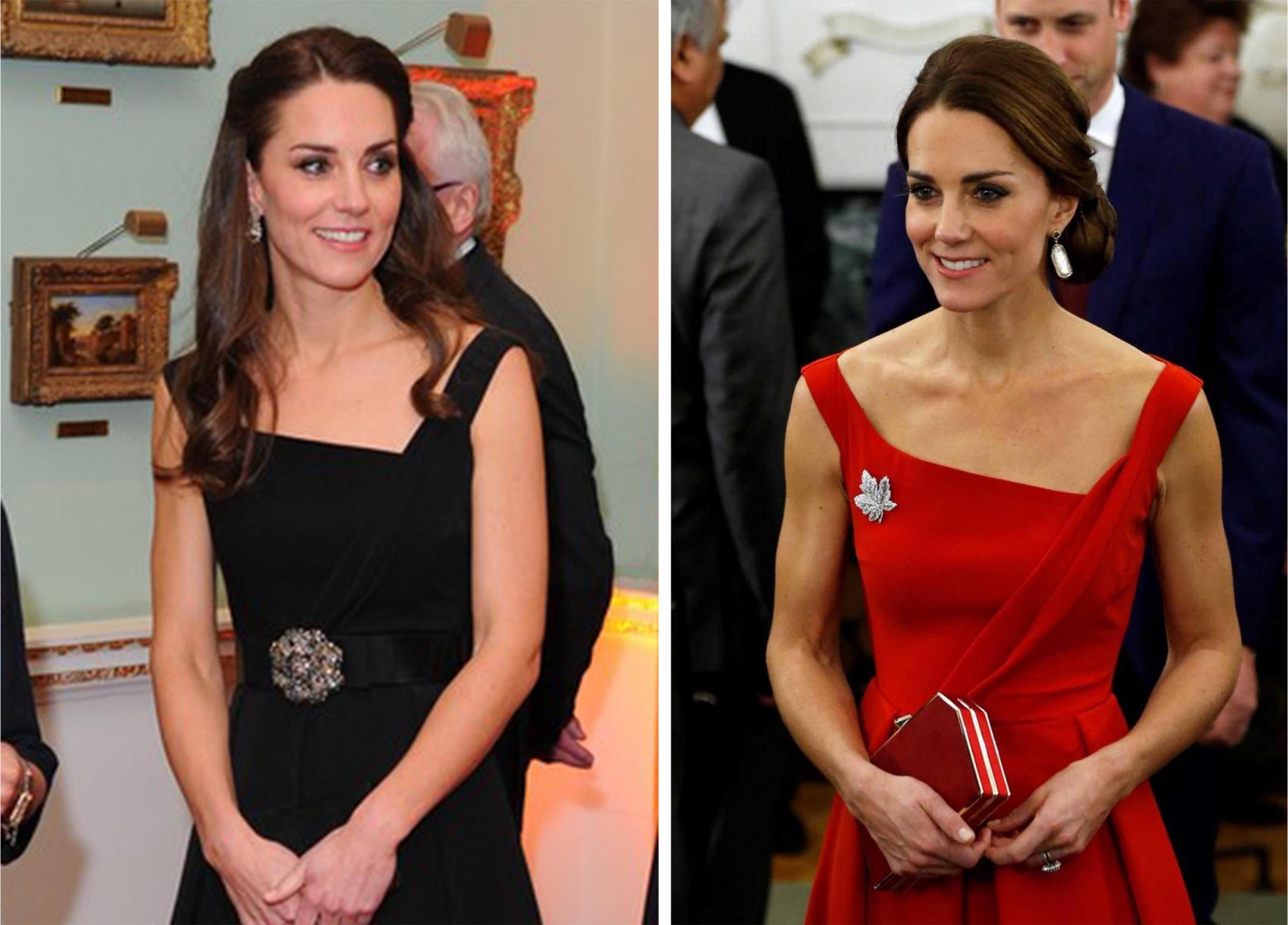 Kate Middleton realmente usou o mesmo vestido em três