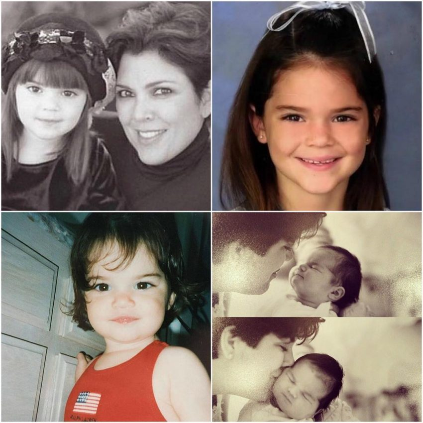 Kris Jenner fez uma montagem de fotos para a filha