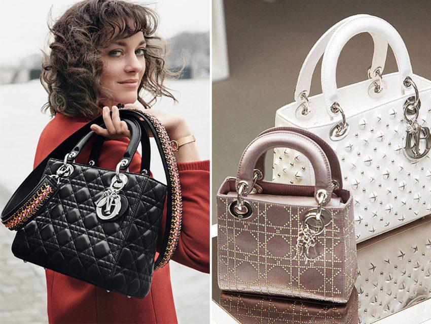 """Lady Dior, Christian Dior: Icónico, este modelo já fez parte do closet de várias princesas como Lady Di e Princesa Grace do Mónaco. A cada estação a casa Dior reinventa a sua """"obra prima"""""""