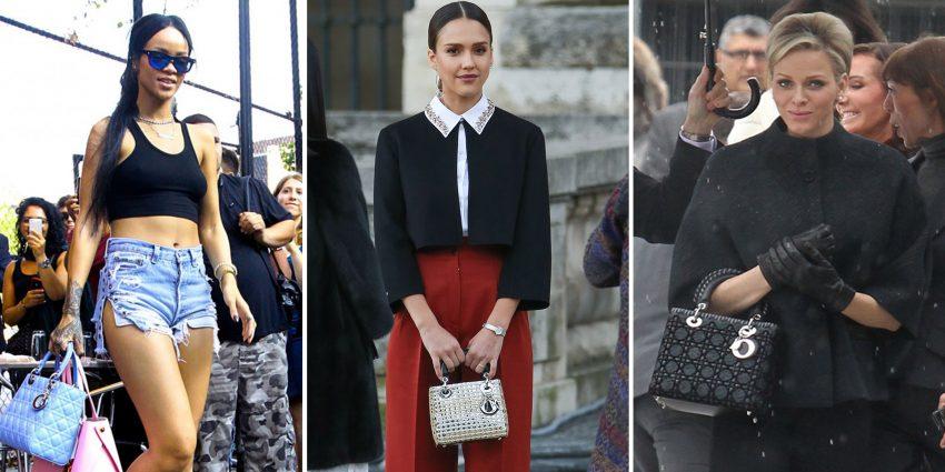 """Rihanna, Jessica Alba e Charlene do Mónaco conjugam as suas """"Lady Dior"""" com qualquer visual"""