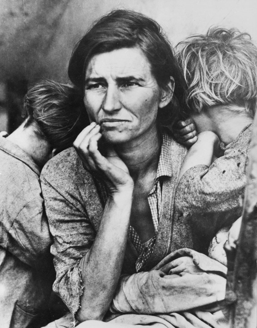 Mãe migrante (1936, Dorothea Lange)