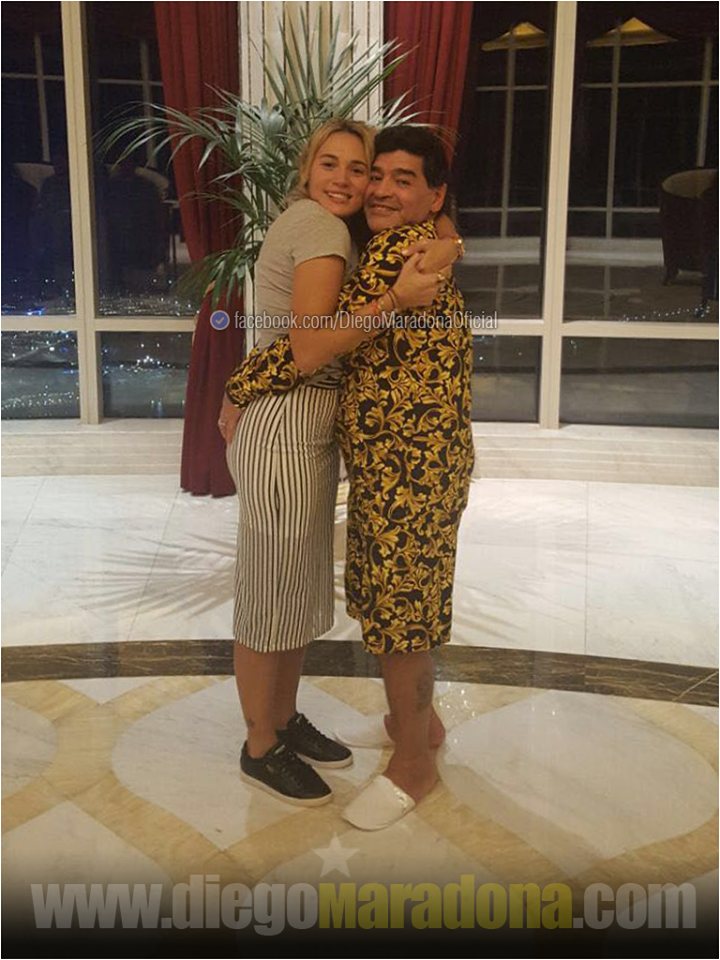 Maradona com a mulher