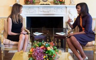 melania-trump-e-michelle-obama-encontro-casa-branca