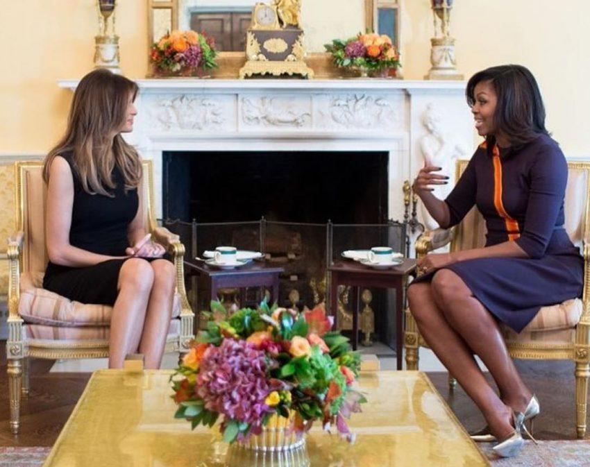 melania-trump-e-michelle-obama-encontro-casa-branca