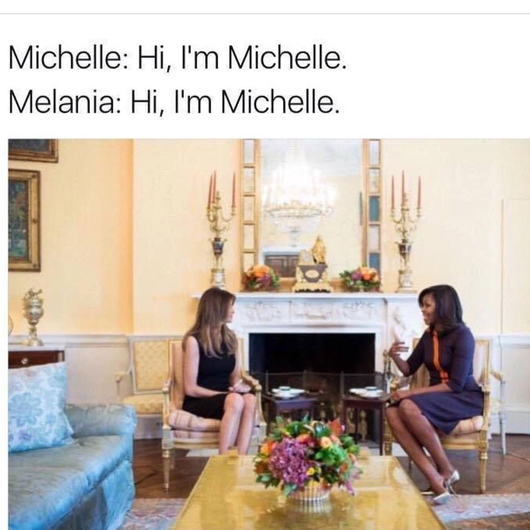 melania-trump-e-michelle-obama-encontro-casa-branca-piada-net