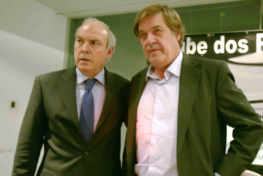Joaquim Jorge e Miguel Sousa Tavares no Clube dos Pensadores