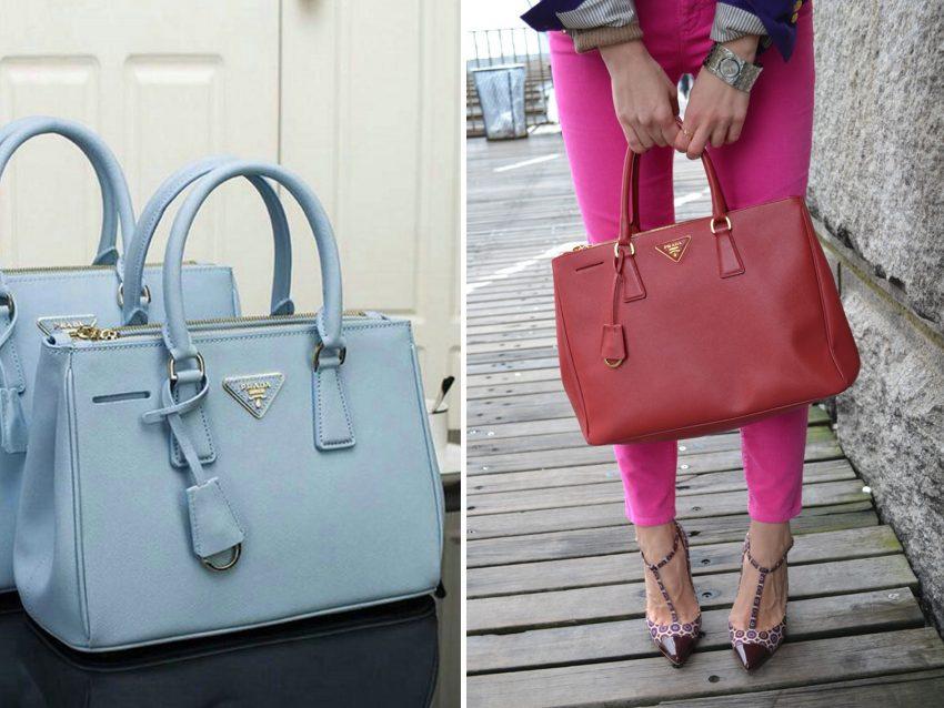 """Galleria Bag, Prada:  também conhecida como """"Saffiano Lux bag"""" esta mala é isso mesmo, um verdadeiro luxo. Resistente, é capaz de lhe durar anos e pode conjugá-la com peças mais desportivas ou com um look mais formal"""
