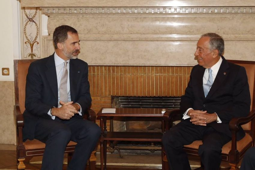 Felipe e Marcelo na reunião bilateral