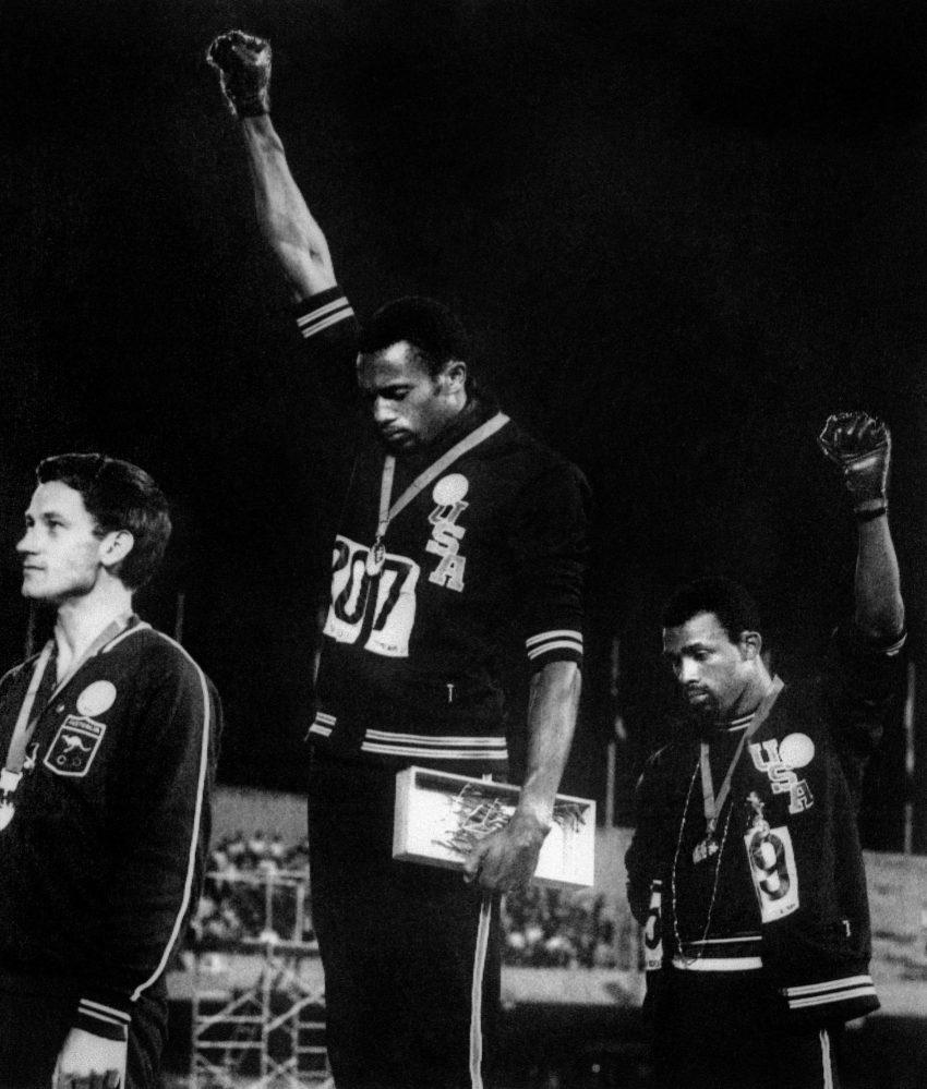 Saudação do poder negro (1968, John Dominis)
