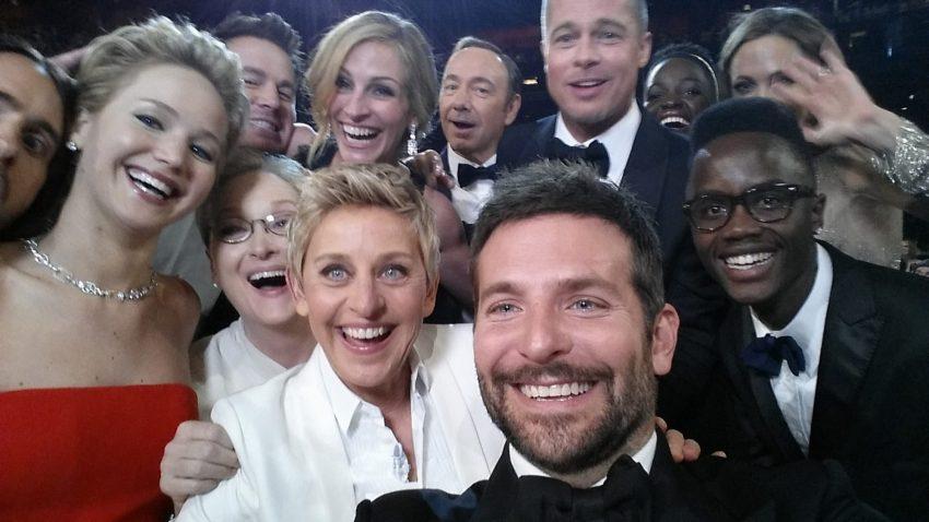 Selfie dos Óscares (2014, Bradley Cooper)