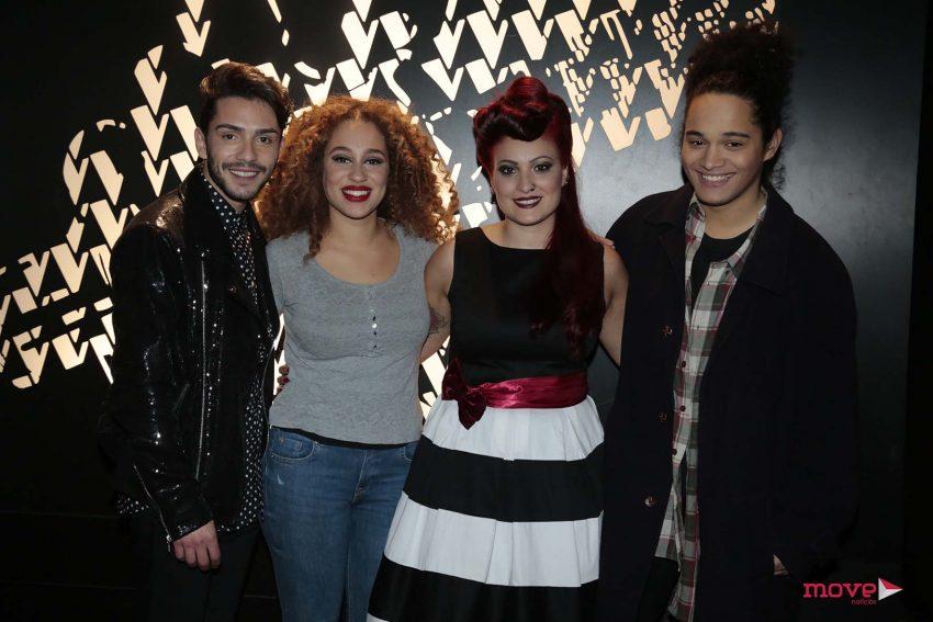 Os 4 concorrentes eliminados: Bertílio Santos, Laura, Juliana e Buno Pina