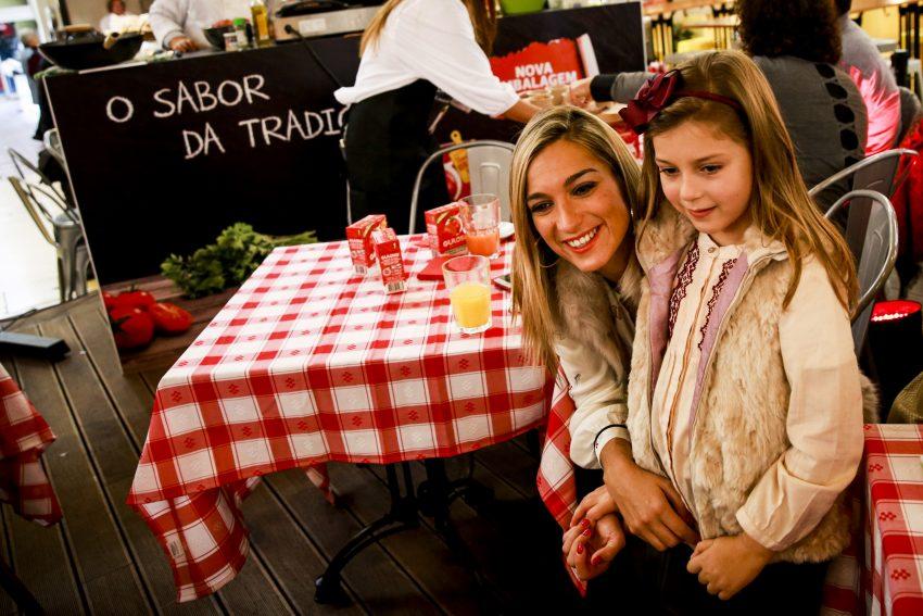 Vanessa Palma com a filha, Matilde
