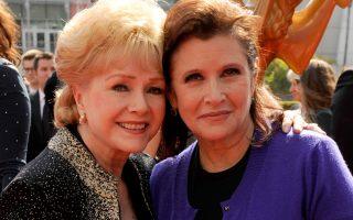 Debbie Reynolds e a filha Carrie Fisher