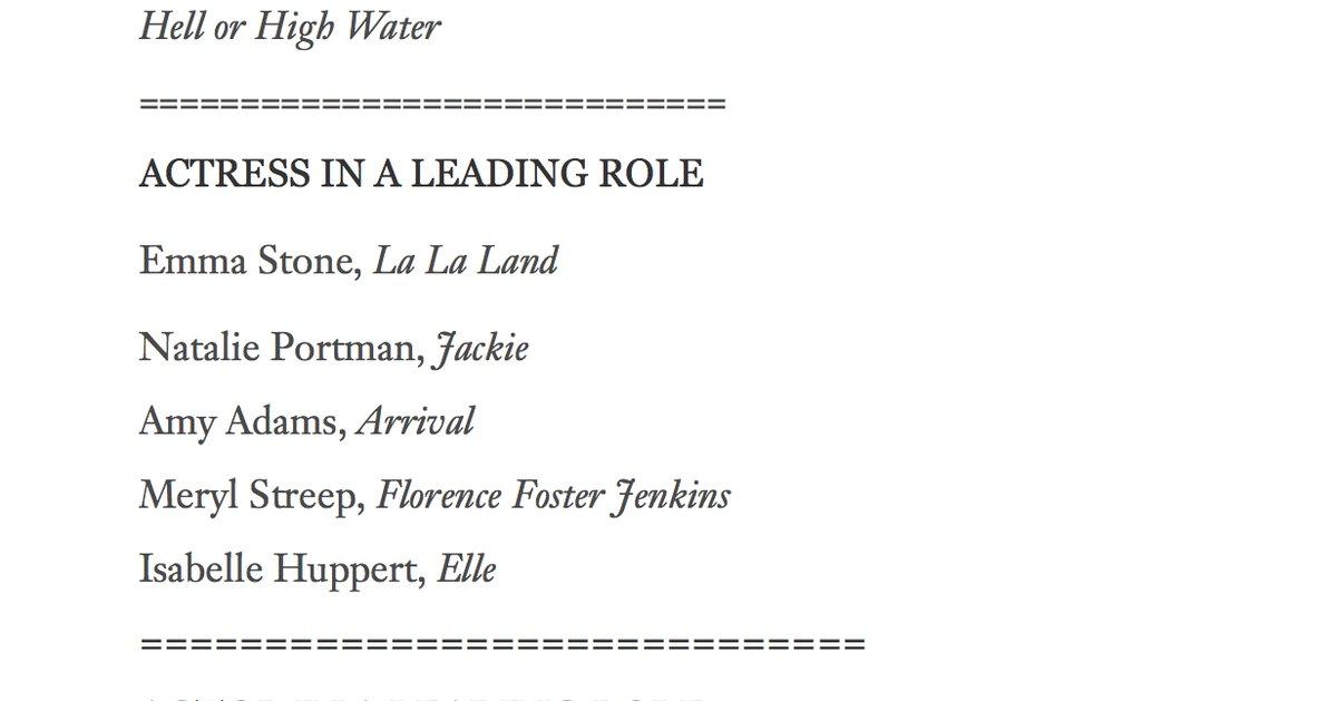Amy Adams e Tom Hanks nomeados por engano aos Óscares
